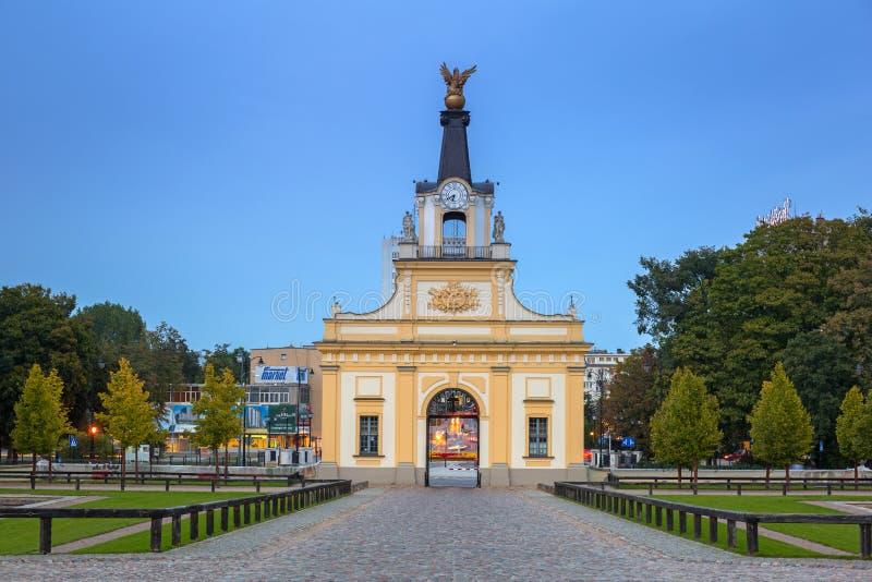 Port till den Branicki slotten i Bialystok, Polen arkivbilder