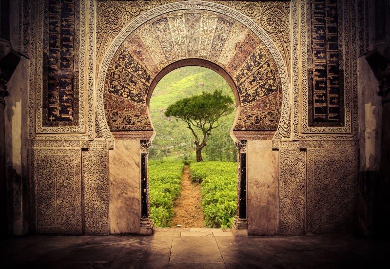 Port till paradiset royaltyfria bilder