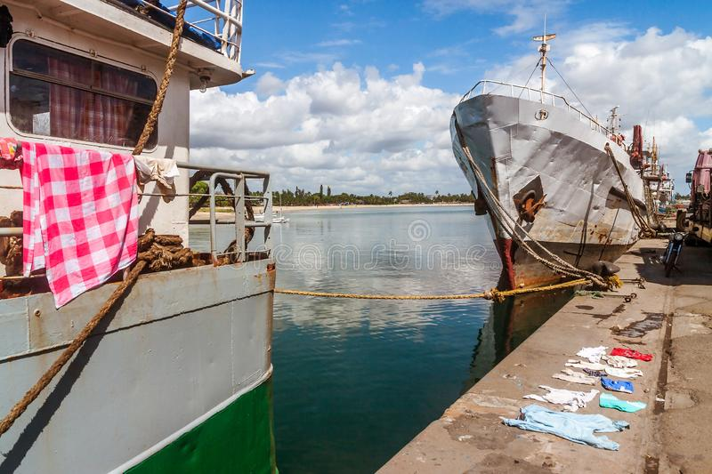 The port of Toamasina stock images