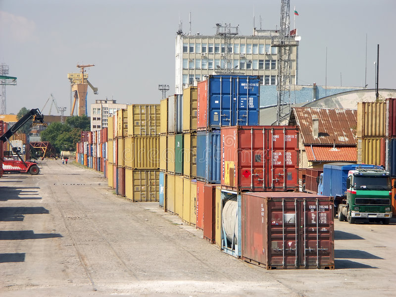 Download Port of transhipment stock image. Image of industry, iron - 1782219