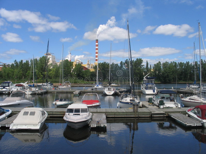 A port of Trois-Rivieres stock photo