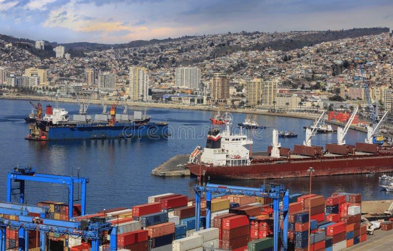 Port Valparaiso zdjęcia stock
