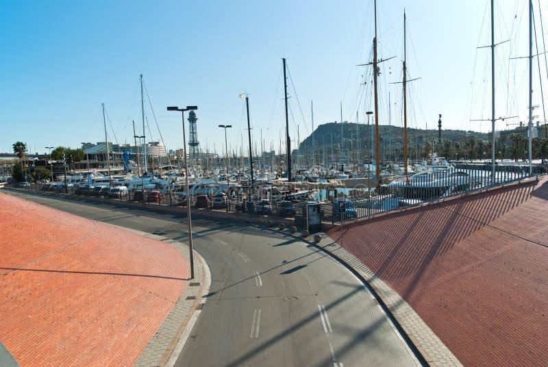 Port Vell in Barcelona. royalty free stock image