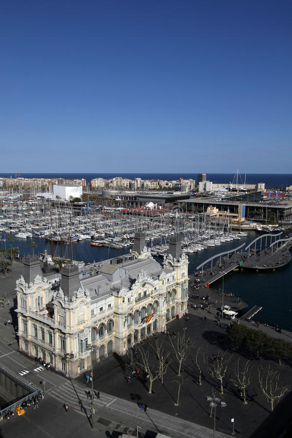 Download Port Vell in Barcelona stock photo. Image of coast, european - 25456660