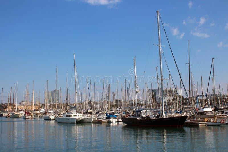 Port Vell - Barcelona royaltyfria bilder