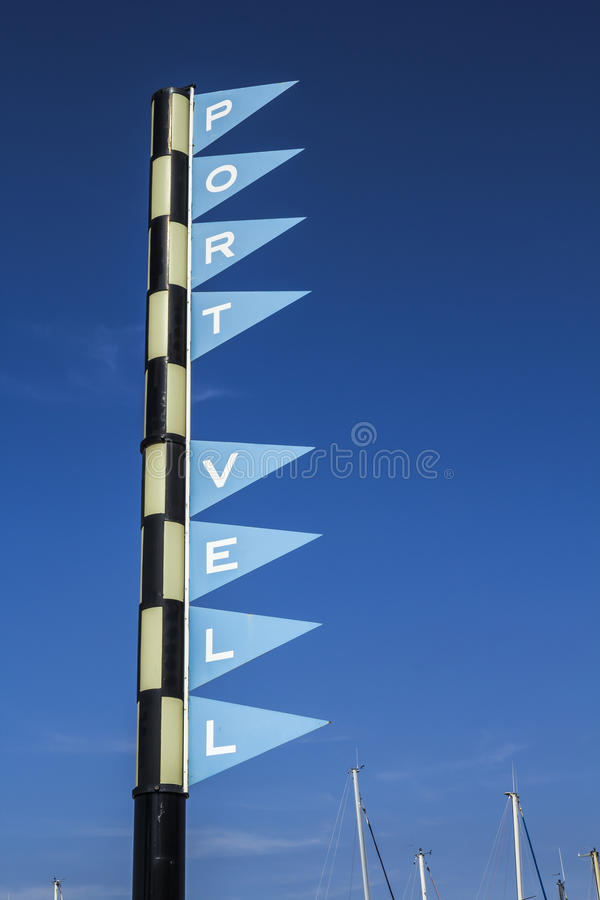 Free Port Vell Sign Royalty Free Stock Photo - 33164335