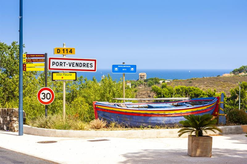 Port-Vendres, Collioure, France photos stock