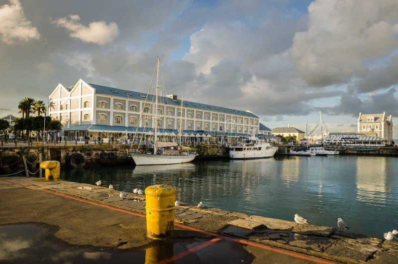 Port, Victoria et Alfred Waterfront de Cape Town image libre de droits