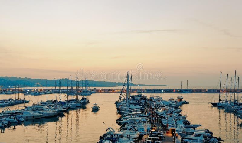 Port view stock photo
