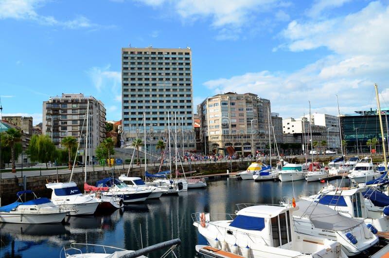 Port Vigo Galicia, Hiszpania (,) obraz royalty free