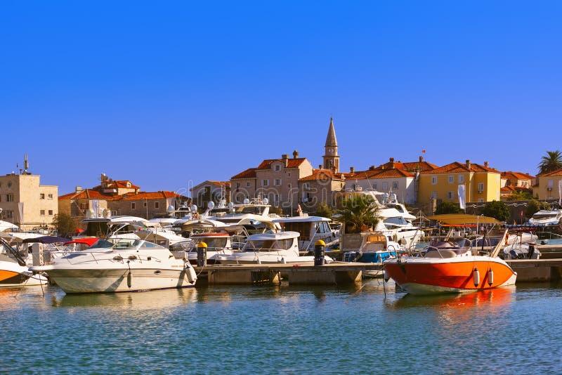 Port w Budva Montenegro zdjęcia royalty free