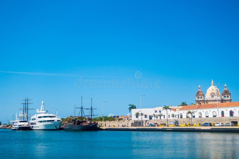 Port w Cartagena, Kolumbia obrazy stock