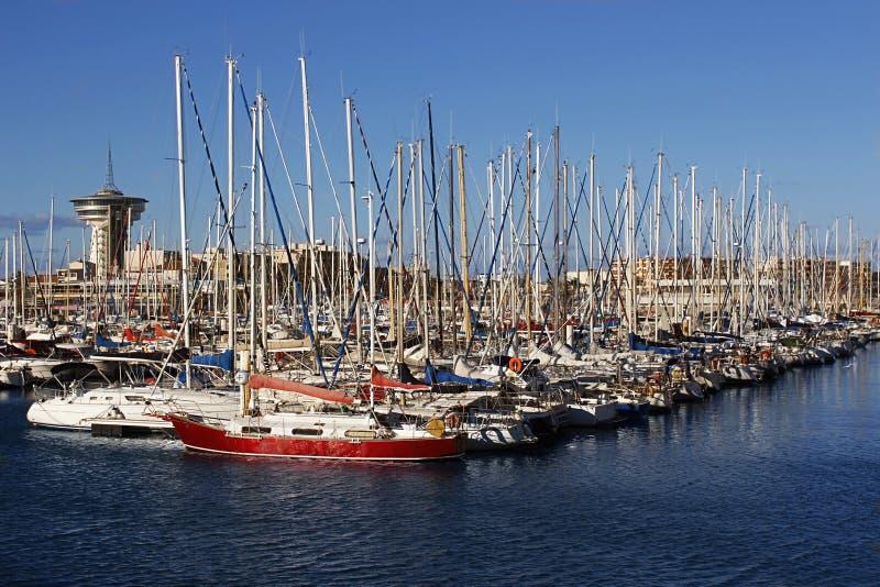 Port w Francja Palavas obrazy stock