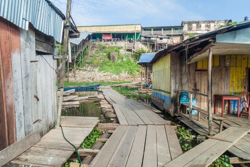 Port w Iquitos, Peru zdjęcie stock