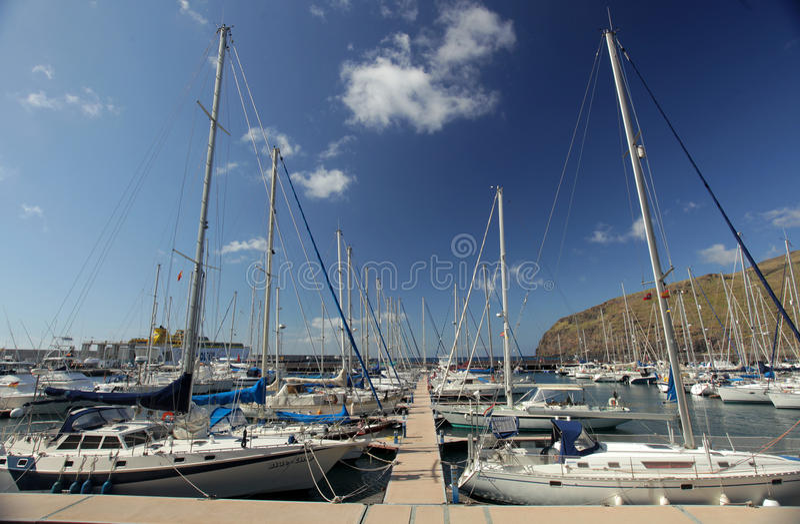 Port w San Sebastian zdjęcie stock