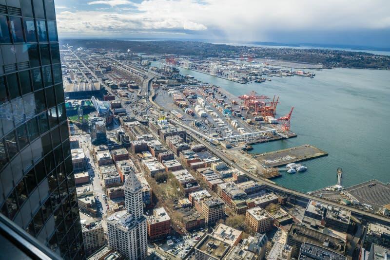 port w Seattle zdjęcie royalty free