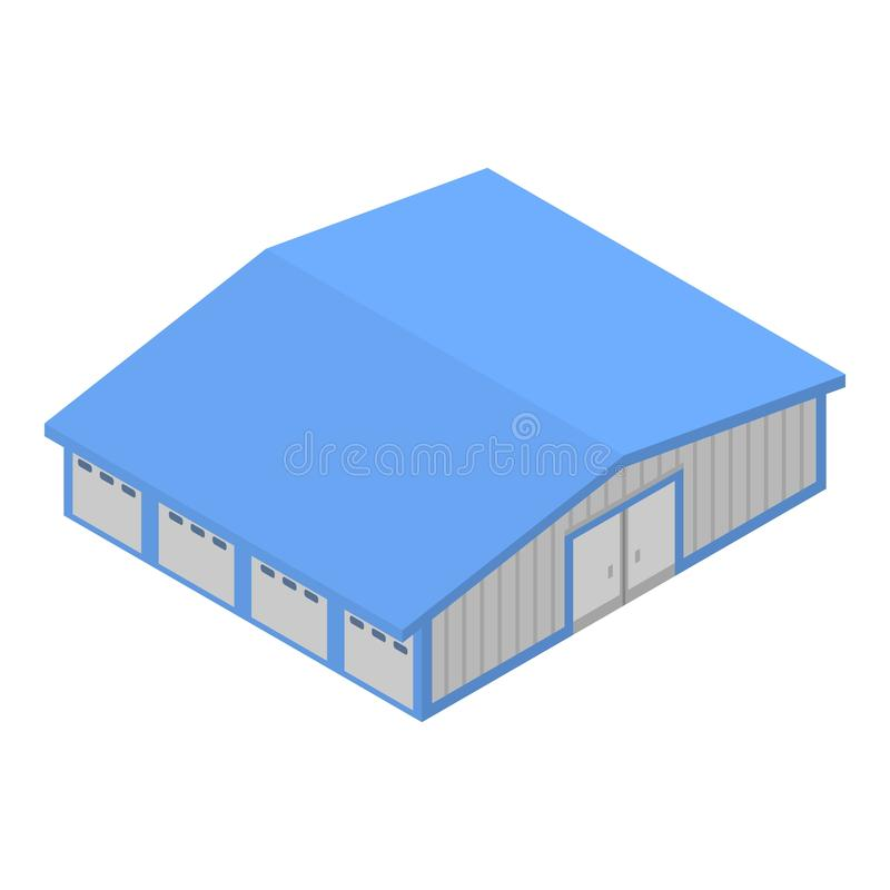 Port warehouse icon, isometric style stock illustration