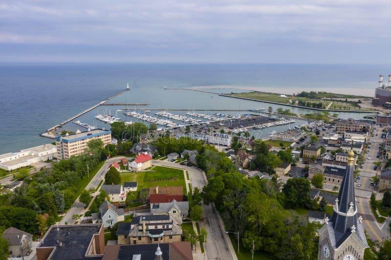 Port Washington hermoso, Wisconsin fotografía de archivo