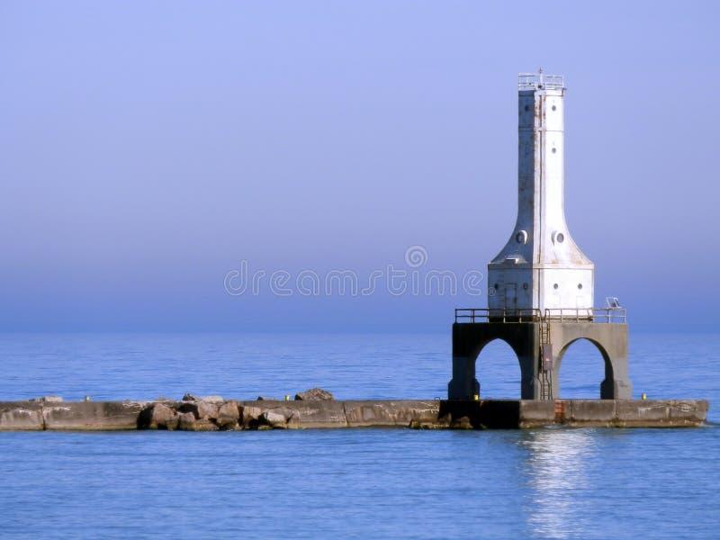 Port Washington, Wisconsin historic lighthouse on Lake Michigan. Lighthouse on Lake Michigan this spring stock photos