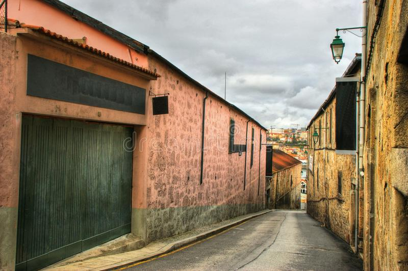 Port Wine Cellars streets in Vila Nova de Gaia stock images