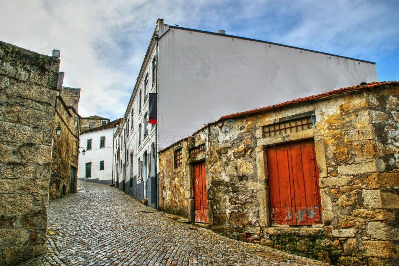 Port Wine Cellars streets in Vila Nova de Gaia royalty free stock photography