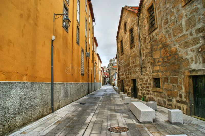 Port Wine Cellars streets in Vila Nova de Gaia royalty free stock image