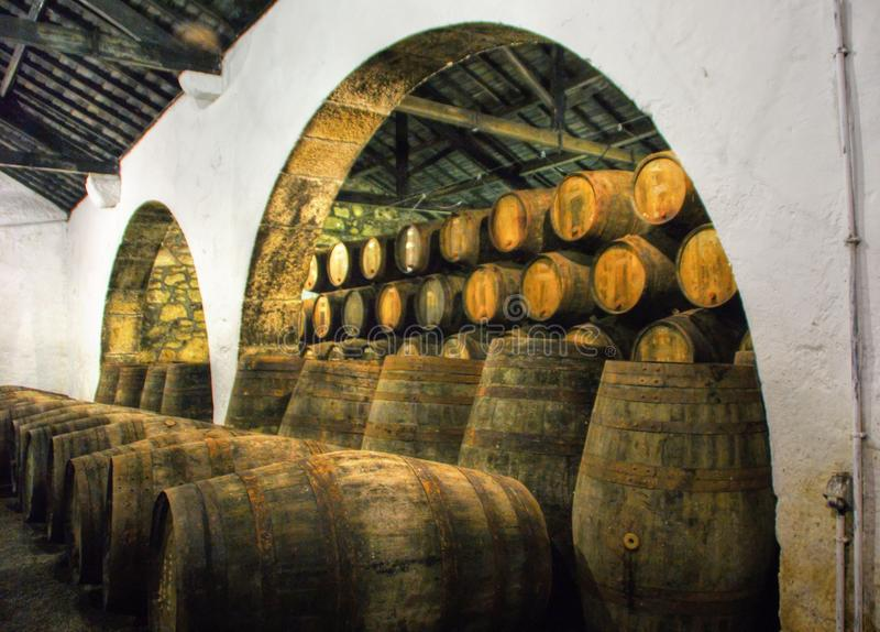 Port Wine Cellars in Vila Nova de Gaia stock image
