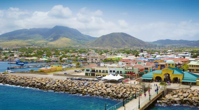Port Zante i Basseterre, St Kitts och Nevis royaltyfri foto