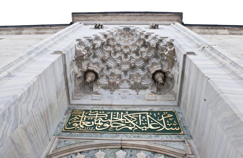 Detalhe da via principal da mesquita azul em Istambul, Turquia fotografia de stock