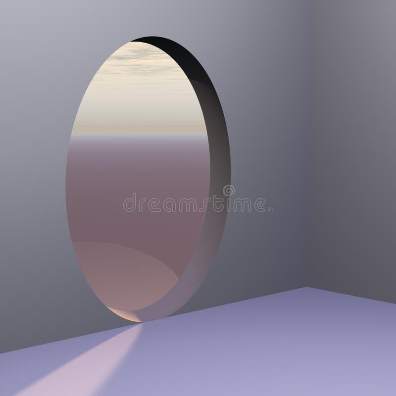 Porta abstrata oval de canto ilustração stock