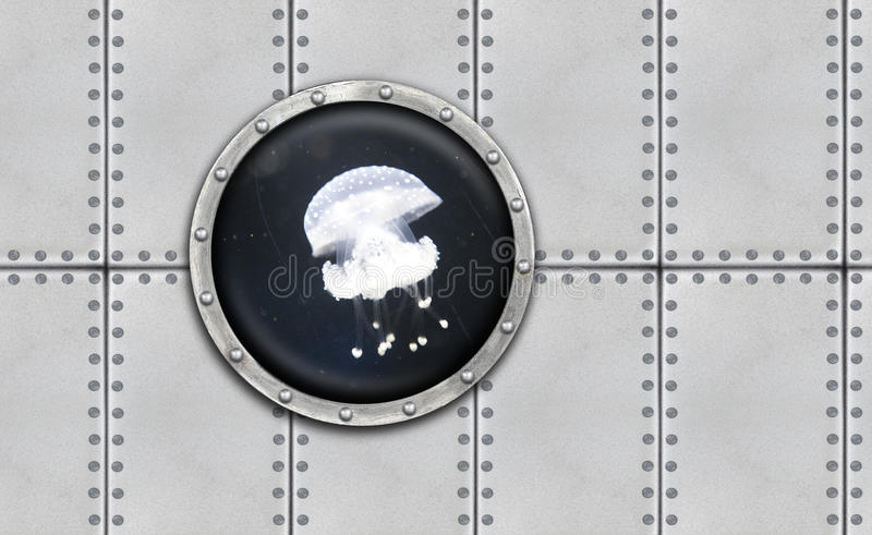 Porta acorazada submarina foto de archivo libre de regalías