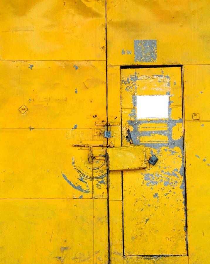 Porta Amarela Fotos de Stock