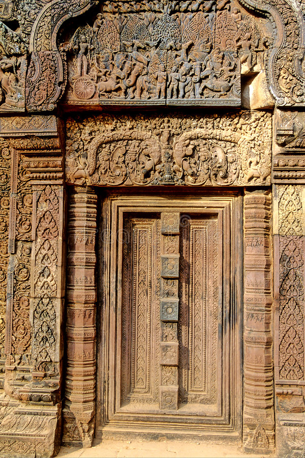 Porta a Angkor Wat- Cambogia fotografie stock