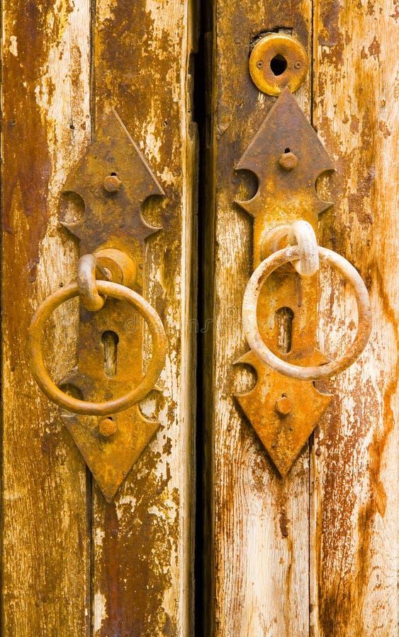 Porta Antichissima Immagine Stock