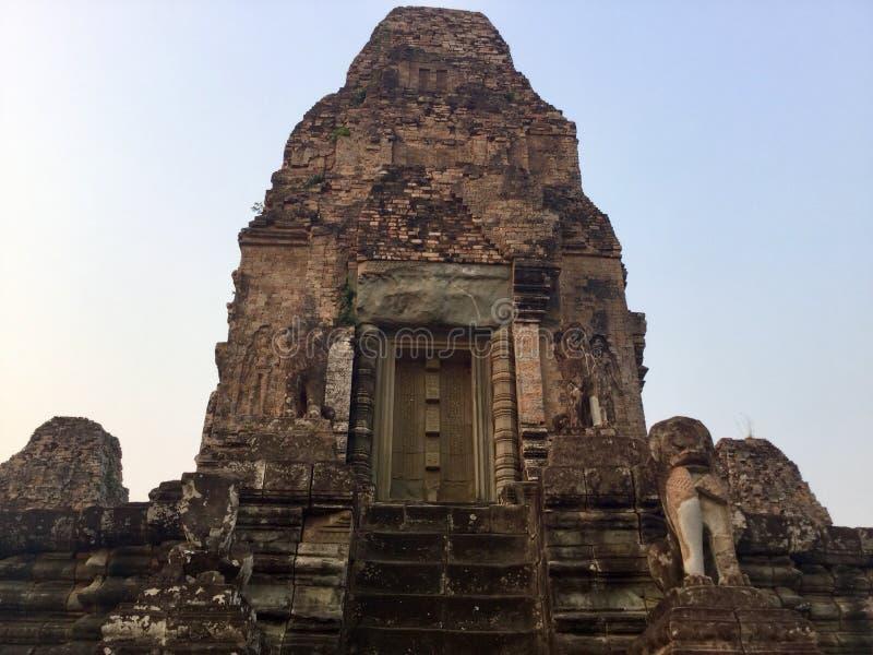 Porta antiga Ruínas do templo Hindu fotos de stock