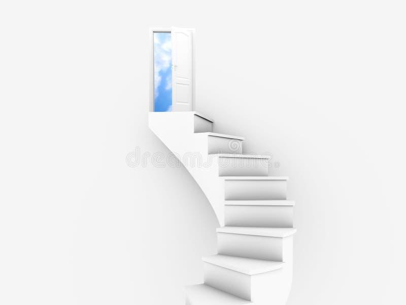 Porta ao céu ilustração do vetor