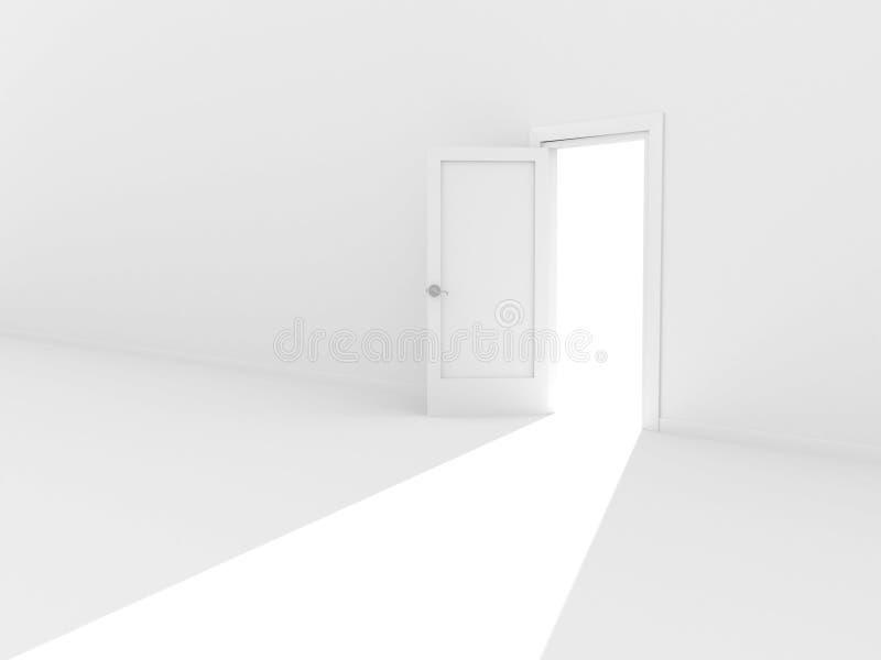 Porta aperta illustrazione di stock immagine di speranza for Porta aperta