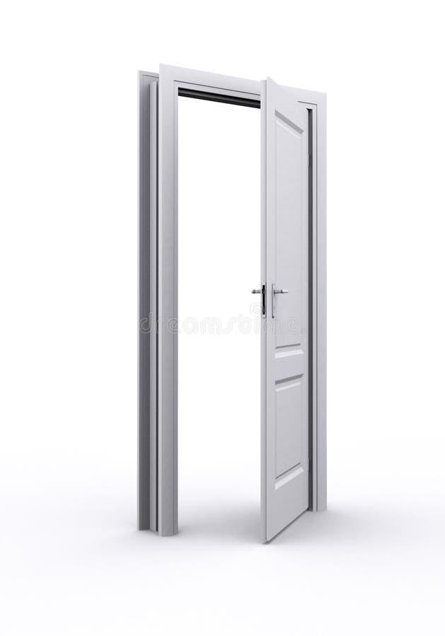 Porta aperta illustrazione di stock