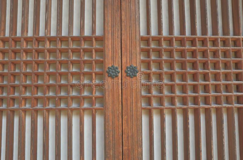 Porta architettonica tradizionale coreana del modello fotografia stock