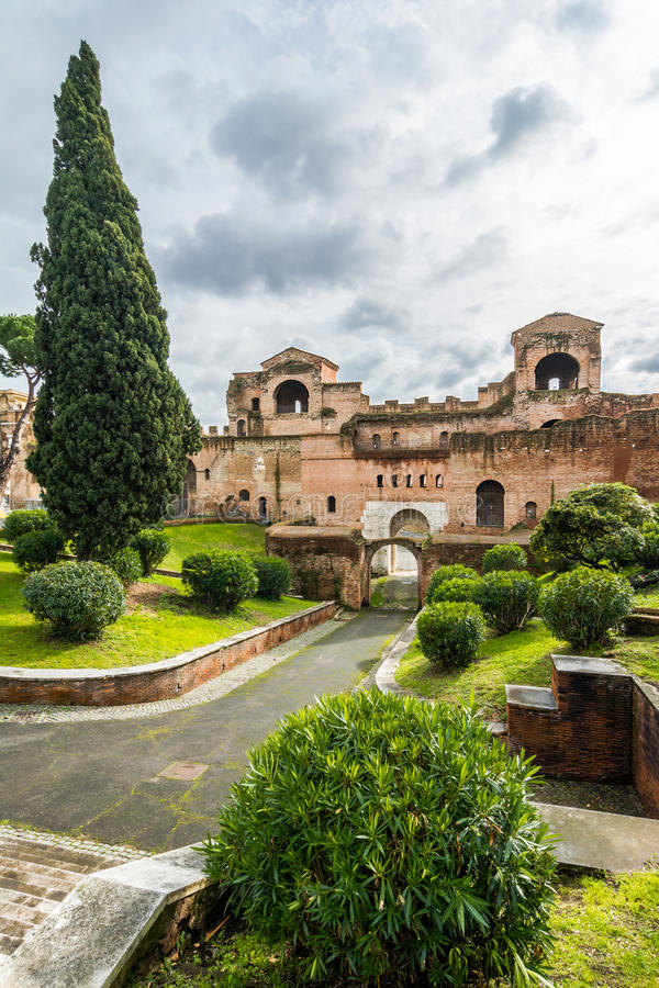 Porta Asinaria and guard Towers on the Rome walls stock photography