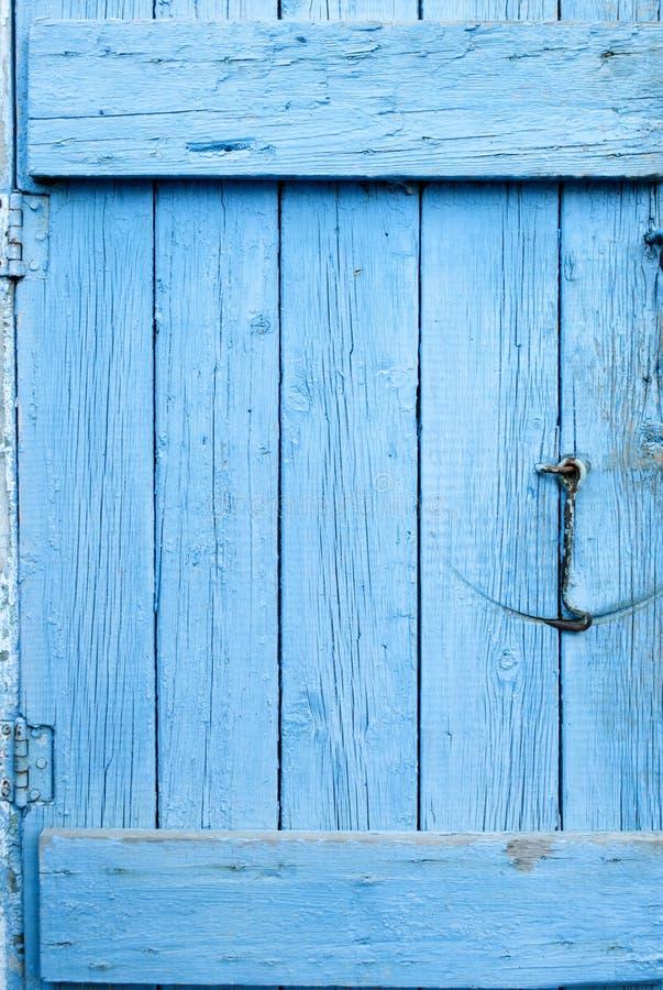 Porta azul do Grunge imagem de stock