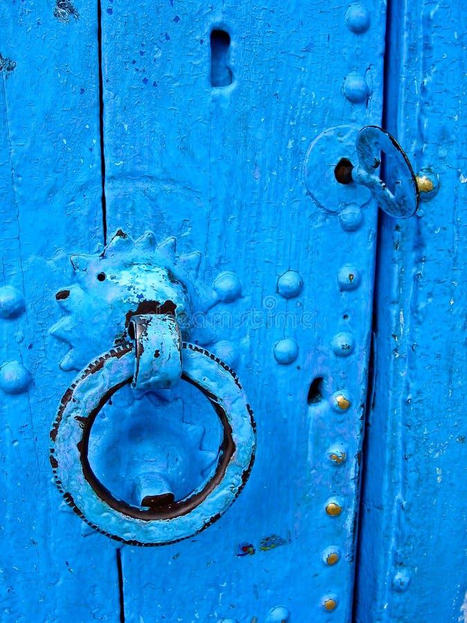 Porta azul, fim acima fotos de stock royalty free