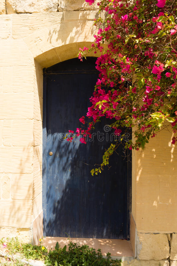 Porta azul Gozo fotos de stock royalty free