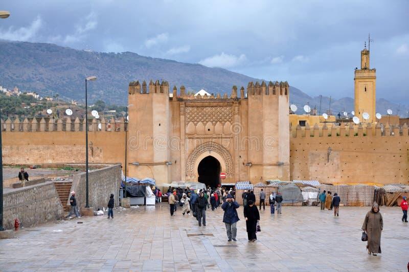 Porta Bab Chorfa em Fes, Marrocos imagens de stock royalty free