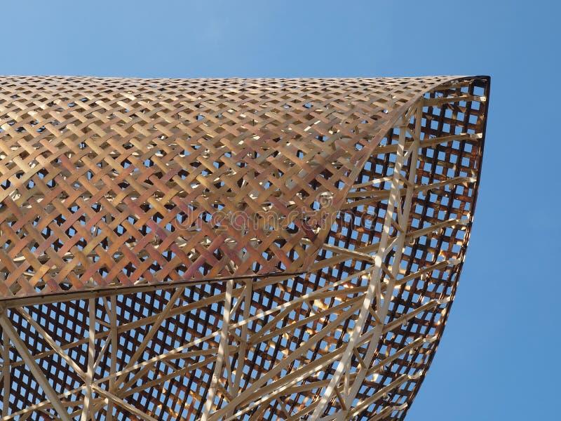 Porta Barcellona olimpic immagine stock libera da diritti