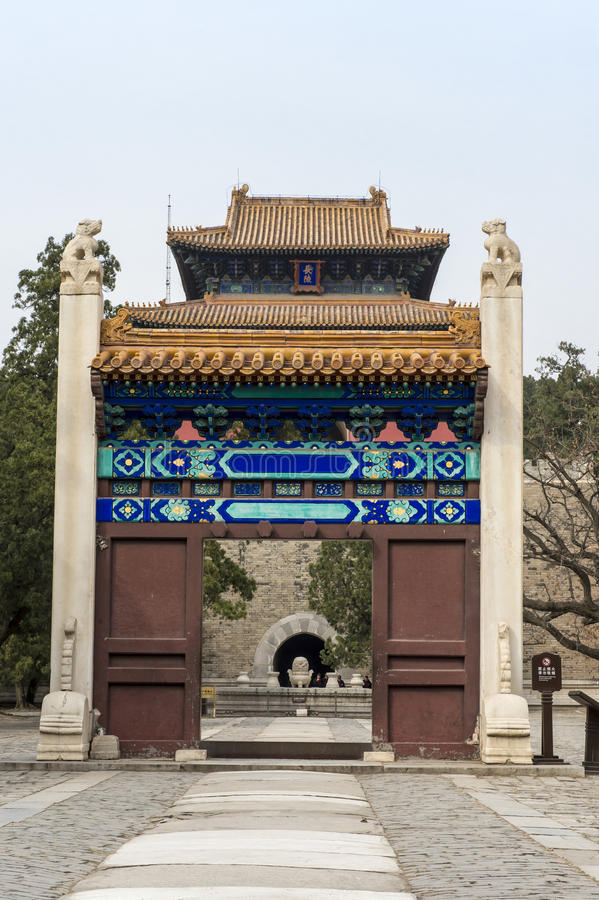 Porta Beijing imagem de stock royalty free