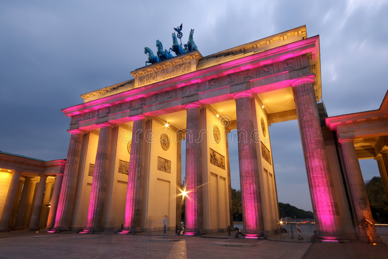 Porta Berlim de Brandenberg fotos de stock