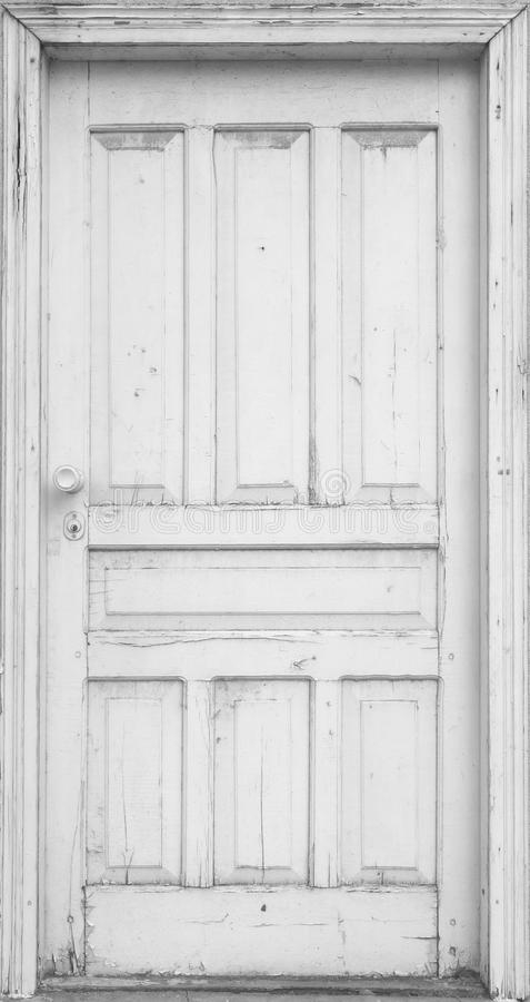 Porta bianca immagine stock