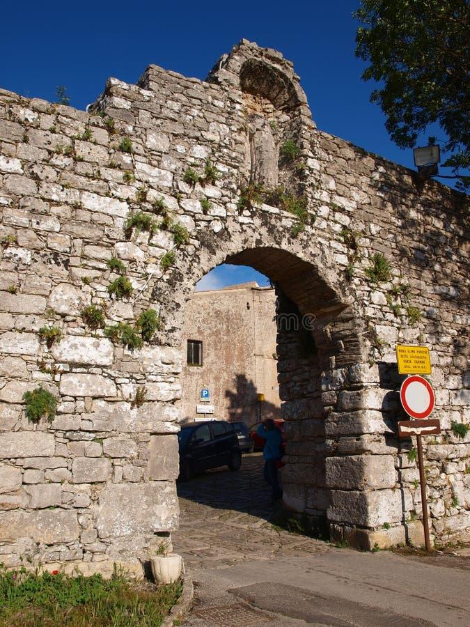 Porta Carmine, Erice, Italy royalty free stock image