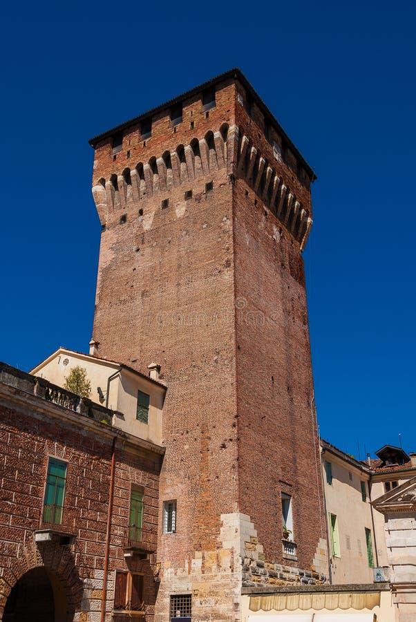 Porta Castello torn i Vicenza royaltyfria bilder